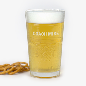 Custom Coach Mike Basketball Beer Glass
