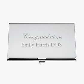 Custom Congratulations Business Card Case