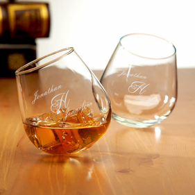 Custom Couples Classic Rocking Cocktail Glass