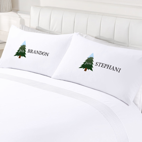 Custom Couples His & Hers Holiday Pillow Cases