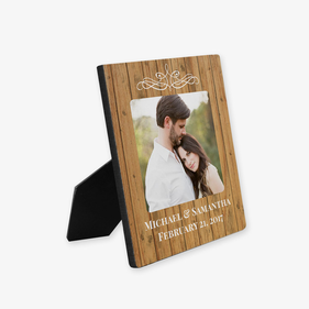 Custom Couples Photo Hardboard Picture Frame