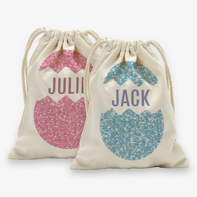 "Custom Easter Egg Drawstring Sack<p><span style=""color:#ff0000;"">[SMALL SACK IS ON BACKORDER UNTIL 8/31/2017]"