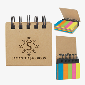Custom Eco Sticky Notes-N-Flags Spiral Book