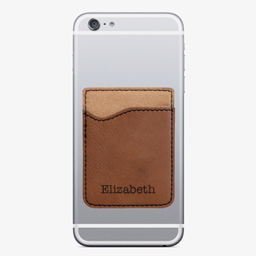 Custom Elizabeth Leatherette Caddy Phone Wallet