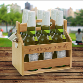 Custom Established Beverage Caddy w/ Bottle Opener