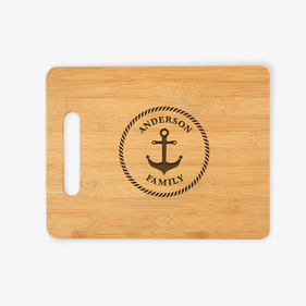 Custom Family Anchor Wooden Cutting Board