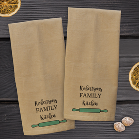 Custom Family Kitchen Towel