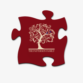Custom Family Name Puzzle Piece Wall Sign