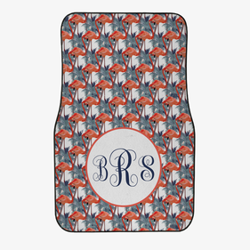 Custom Flamingo Monogram Front Car Mat
