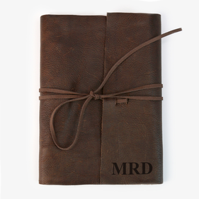 Custom Genuine Leather Binding 3 Ring Writing Journal