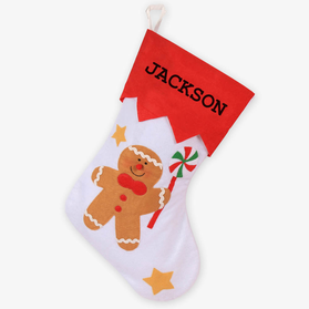 Custom Gingerbread Man Christmas Stocking