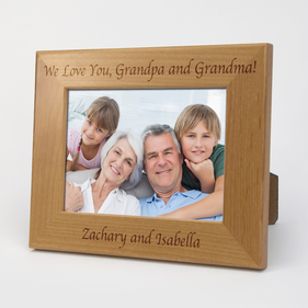 Custom Grandma and Grandpa Wood Picture Frame
