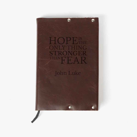 Custom Hope Genuine Leather Bible Cover