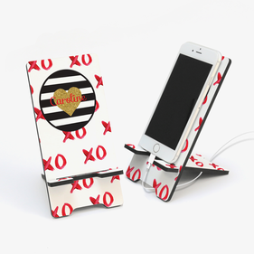 Custom Hugs and Kisses XO Cell Phone Stand