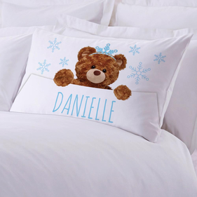 Custom Ice Princess Teddy Bear Pillowcase