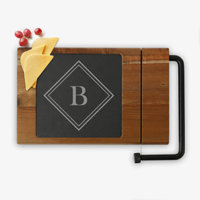Custom Initial Acacia Wood Cheese Board