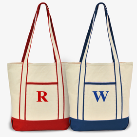 Custom Initial Cotton Tote Bag