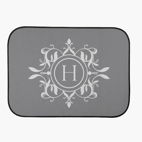 Custom Initial Design Back Car Mat