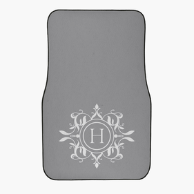 Custom Initial Design Front Car Mat