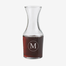 Exclusive Sale - Personalized Initial Small Wine Carafe