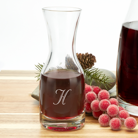 Custom Initial Small Wine Carafe
