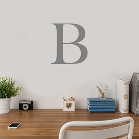 Custom Initial Vinyl Wall Decal