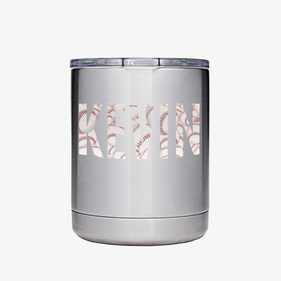 Custom Initials Vinyl Steel Vacuum Insulated Small Tumbler