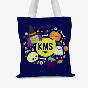 Custom Kids Spooky Halloween Large Trick or Treat Tote Bag