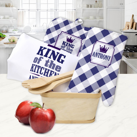 Custom King of the Kitchen Gift Basket