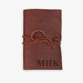 Custom Leather Wrap Small Sticky Note Flags Book