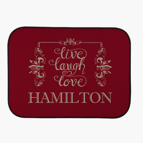 Custom Live Love Laugh Back Car Mat