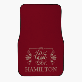 Custom Live Love Laugh Front Car Mat