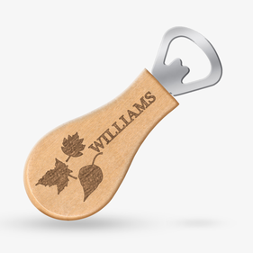 Custom Maple Magnetic Fall Leaves Bottle Opener