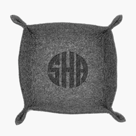 Custom Monogram Felt Stash Tray