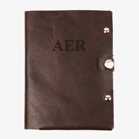 Custom Monogram Genuine Leather Passport Holder