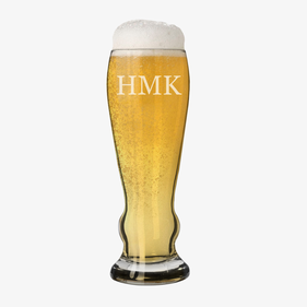 Custom Monogram Pilsner Beer Glass