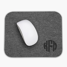Custom Monogram Rectangular Felt Mouse Pad