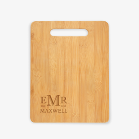 Custom Monogram Wooden Cutting Board