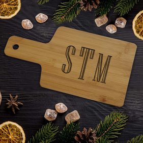 Custom Monogram Wooden Serving Board
