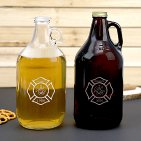 Custom Name Firefighter Beer Growler