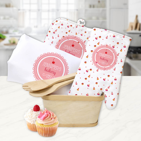 Custom Cupcakes Kitchen Gift Basket