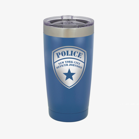Custom Police 20 oz Colored Coffee Tumbler w/Clear Lid