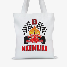 Custom Race Car Tote Bag