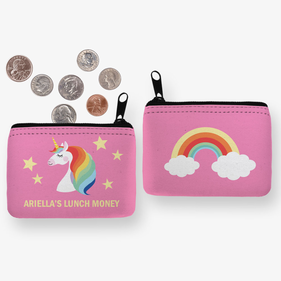 Custom Rainbow Unicorn Coin Purse