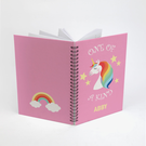 Custom Rainbow Unicorn Spiral Notebook