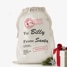 """Custom Santa's Special Delivery Drawstring Sack<p><span style=""""color:#ff0000;"""">[SMALL SACK IS ON BACKORDER UNTIL 8/31/2017]"""