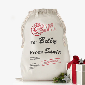 "Custom Santa's Special Delivery Drawstring Sack<p><span style=""color:#ff0000;"">[SMALL SACK IS ON BACKORDER UNTIL 8/31/2017]"