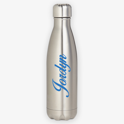 Custom Script Name Stainless Steel Water Bottle