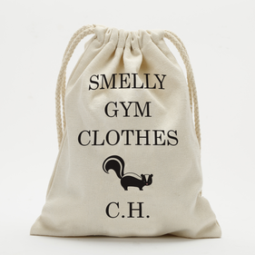 Custom Smelly Gym Clothes Drawstring Sack