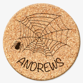 Custom Spiderweb Cork Coasters